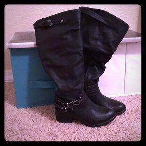 Carlos Santana motorcycle black boot 38